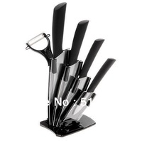 "Free Shipping 3""+4""+5""+6""+ Ultra Sharp Kitchen Ceramic Cutlery Knives Ceramic knife + Peeler + Holder"