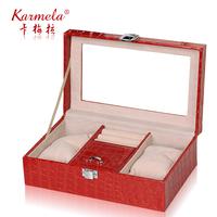 Jewelry box dressing box lockable fashion princess royal jewelry box belt skylight
