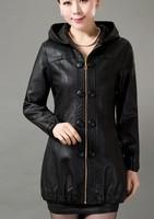 5XL large size leather clothing new 2014 spring leather jacket women mother leather clothing female black jackets and coats