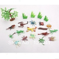 Free shipping 17pcs/set Insects Animal Model Toys Children Play house Simulation Games Toys