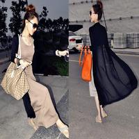 Spring Korean version of Slim Long sleeved shawl cardigan jacket sun protection clothing female Free Shipping