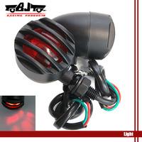BJ-SL-017 Barrier style Black housing 2 X 12 V  Motorcycle  Turn Signal Lights flashers  indicator light