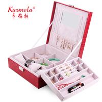 Jewelry box watch box fashion princess accessories cosmetic box big jewelry storage box with lock