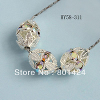 (min order$10)free shipping 15pcs  58-311  7*11mm  jewelry finding  silver  rhinestone filigree connector