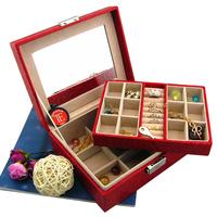 Bd leather jewelry box cosmetic box jewelry storage box t037 cufflinks storage box