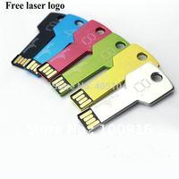 Freeshipping laser engrave 100pcs/lot Mini Metal key USB flash drive logo 1GB 2G 4G 8G 16G 32G 64G Metal usb memory