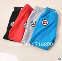 2014 spring new boys casual cotton sport pants solid pants for kids children's leggings 4 colors