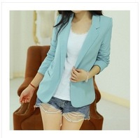 The new Slim casual dress new women's candy-colored wild casual small suit jacket women free shipping