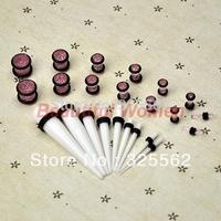 Hot Sell 23 Pc Ear Taper + PLUG Kit 14G-00G 1.6mm-10mm Gauges Expander Set Stretchers 14 Colors 9188