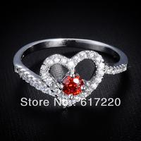 2014 Wholesale Fashion High Quality Loving Wedding Platinum Plated Rings For Women Free Shipping 12pcs/lot