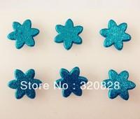 Free shipping 100pcs 15mm bule glitter metal Brads greeting card scrapbooking decoration craft brads DIY material embellishments