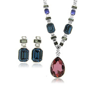Believable South American Style Women's Day 2 Pieces Jewelry Sets Made With Swarovski Element Crystal