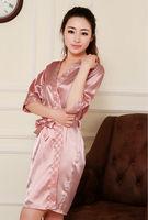 Sexy lady bathrobe nightgown Home Furnishing service  bath gown rube pajama sets