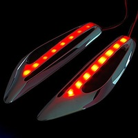 Universal Auto Car LED Side Lights Steering Light Fender Side Lamp Marker Turn Signal Lights Amber Free Shipping