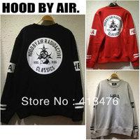 2013 HBA brand men's Outerwear pullover long sleeve HOOD BY AIR RADIOACTIVE print hoodie jumper fleeces Sweatshirts sweater tag