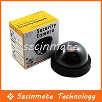 Free Shipping Fake Dome Surveillance Security Camera Dummy Motion Detector Sensor CCTV + LED 50pcs/lot Wholesale