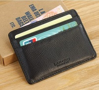 Lan men's small card holder male cowhide coin purse small wallet bank card holder genuine leather card case driving license