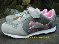 free shipping Fashion female child sport shoes suede cowhide  running shoes female child shoes female child gauze running shoes