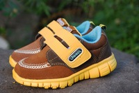 free shipping cowhide the boys casual shoes cowhide boy light shoes male running shoes