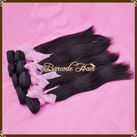 Free shipping Straight 1B# Brazlian  Hair Extension AAAAA Quality 8-30 inches