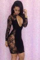 Bud silk dress sexy night club party dress free shipping