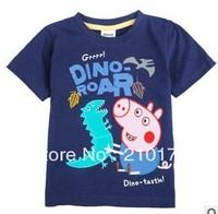Peppa pig 2014 summer boy new cotton short sleeve T-shirt wholesale children's wear