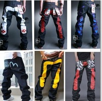 Girl Rushed Freeshipping Country. The New 2014 Men Jeans. Haroun Pants. Embroidery for Graffiti Skateboard/dance / Men's Jeans