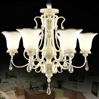 Fashion tieyi resin pendant light american rustic crystal lamp 8 pendant light