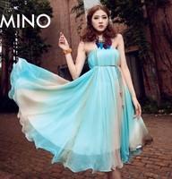 free shipping 2014 new summer dresses, chiffon dress, women dress free transport