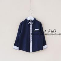 2014 new boys shirts designer shirts long sleeve top children clothing boys clothing