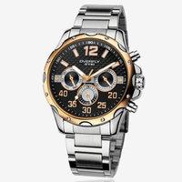 New 2014 Men waterproof watches fashion calendar week 24 hours display quartz watch Wide Strap