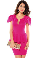 2013 New Women's Dresses Fashion Sexy V-neck Peplum Dress Women Bandage Dresses 5 Colors Free shipping YF28