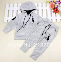 New 2014 drop ship 2pcs/set Kids Baby Polo Suit Boys Girls Long Sleeve Shirt + Pant Sport Clothes Hoodies Children Clothing sets