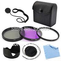 7PCS 49mm Filter Set Lens cap Lens Hood For Canon UV CPL FLD filter kit EOS Rebel SL1 T5i T4i T3i 6D Free shipping