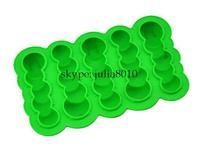 Creative DIY tool creative caterpillars Ice Cube  silicone ice mold Creative Ice Box New exotic ice maker whole sale 10pcs/lot