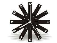 Mirror Clock Wall Home Decoration Modern Art Design DIY 3D Black Square Digital Clock wall Stickers XR135