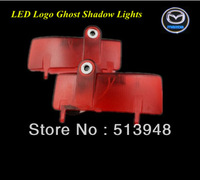 Latest No drilling Directly plug CREE LED Ghost Shadow Lights Car Door Logo Projector Bulbs for 09-13 Mazda6