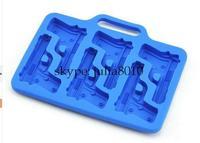 Creative DIY tool pistol ice cube 6 lattice ice mold ice box creative gift wholesale 10pcs/lot