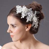 Free Shipping! Wholesale Soft  Pearl And Lace Bridal Hair Accessories Wedding Hair Jewelry Fashion Style TH299