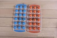 Creative DIY tool safe silicone ice cube lattice grid 18 ice mold Creative Ice fruit shape maker wholesale 10pcs/lot