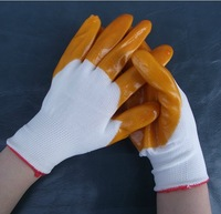 Itemship Labour protection glove rubber gloves anti-skid gloves ultraabrasion resistant rubber gloves and nylon PVC gloves