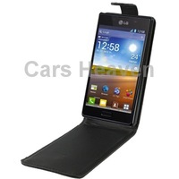 Big Discounts Vertical Flip Leather Case for LG Optimus L7/ P700
