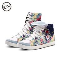 Idx 2014 invisible elevator shoes high-top casual shoes Camouflage doodle women's shoes hand-painted shoes