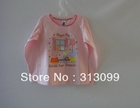 Free shipping EMS/New pattern/Peppa pig/hot pink/Baby T-shirt/mix designs order/100%cotton/ 50pcs lot/5sizes:90-95-100-105-110CM