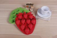 Creative DIY tool strawberry ice box silicone ice mold   Ice Tray   Ice Cube   kitchen utensils wholesale 10pcs/lot