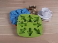 Creative DIY tool eight arrow design Ice Cube Mold Chocolate Mold Ice ice ice box ice tray mold wholesale 10pcs/lot