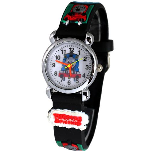 Free Shipping 3D Cartoon Lovely Kids Girls Boys Children Students Thomas Quartz Wrist Watch Very Popular(China (Mainland))