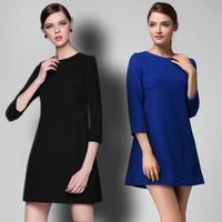 Fashion luxury spring  long-sleeve plus size casual dress loose women's  one-piece dress #402