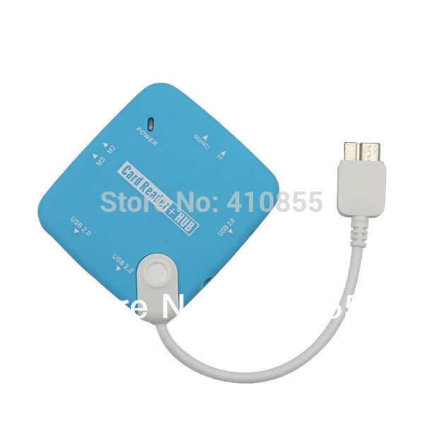Factory Price, Mirco USB 3.0 Smart Card Reader for samsung galaxy note 3 III, SD(HC)/MS/TF/M2/Mini SD,u disk, 500pcs Fedex Free(China (Mainland))