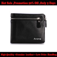NEW 2014 Free shipping 100% Genuine Leather famous brand men wallets  men s bags fashion purse 201402253C